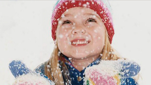 image of girl in snow